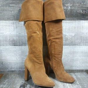 ALDO Knee High Suede Brown Boots Sz 7.5